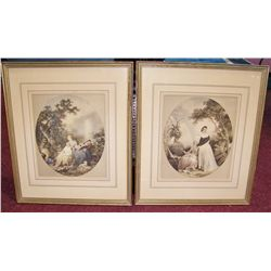Pair of Framed Antique Prints