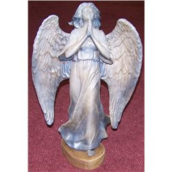 "Praying Angel Bronze, 21""T x 14""W"