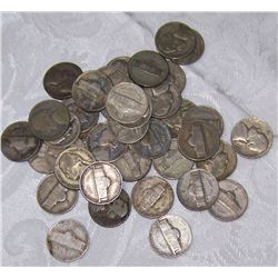 40 SILVER WAR NICKELS 2.4 OZ OF PURE SILVER