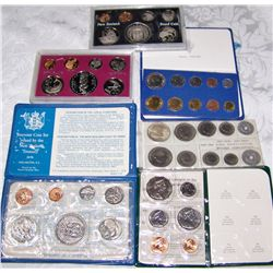 (6X$) FOREIGN COIN SETS PROOF & UNC WITH SILVER