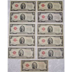 (11X$) CHOICE $2 U.S NOTES SERIES 1928 RED SEAL