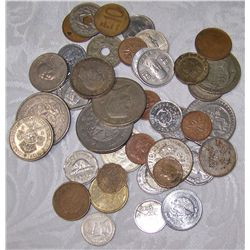 FOREIGN COINAGE INCLUDING LOTS OF SILVER