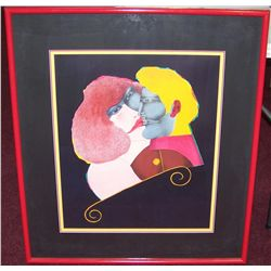 "Richard Lindler Original Lithograph ""The Kiss"""