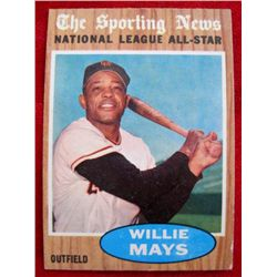 1962 Topps #395 Willie Mays All-Star Baseball Card