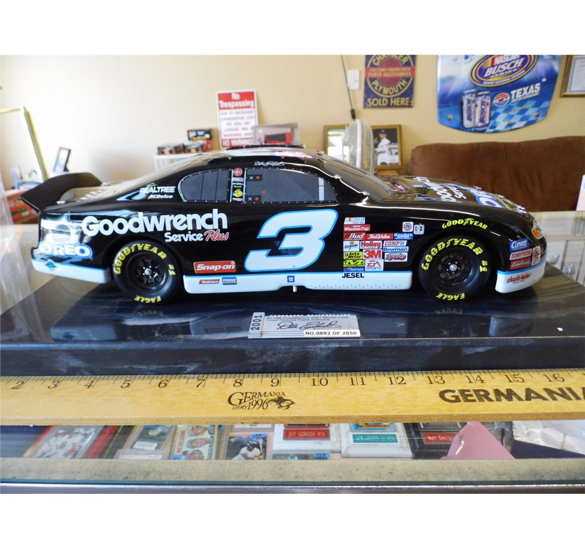 Dale Earnhardt 3 Gm Goodwrench 2001 Monte Carlo Oreo Special
