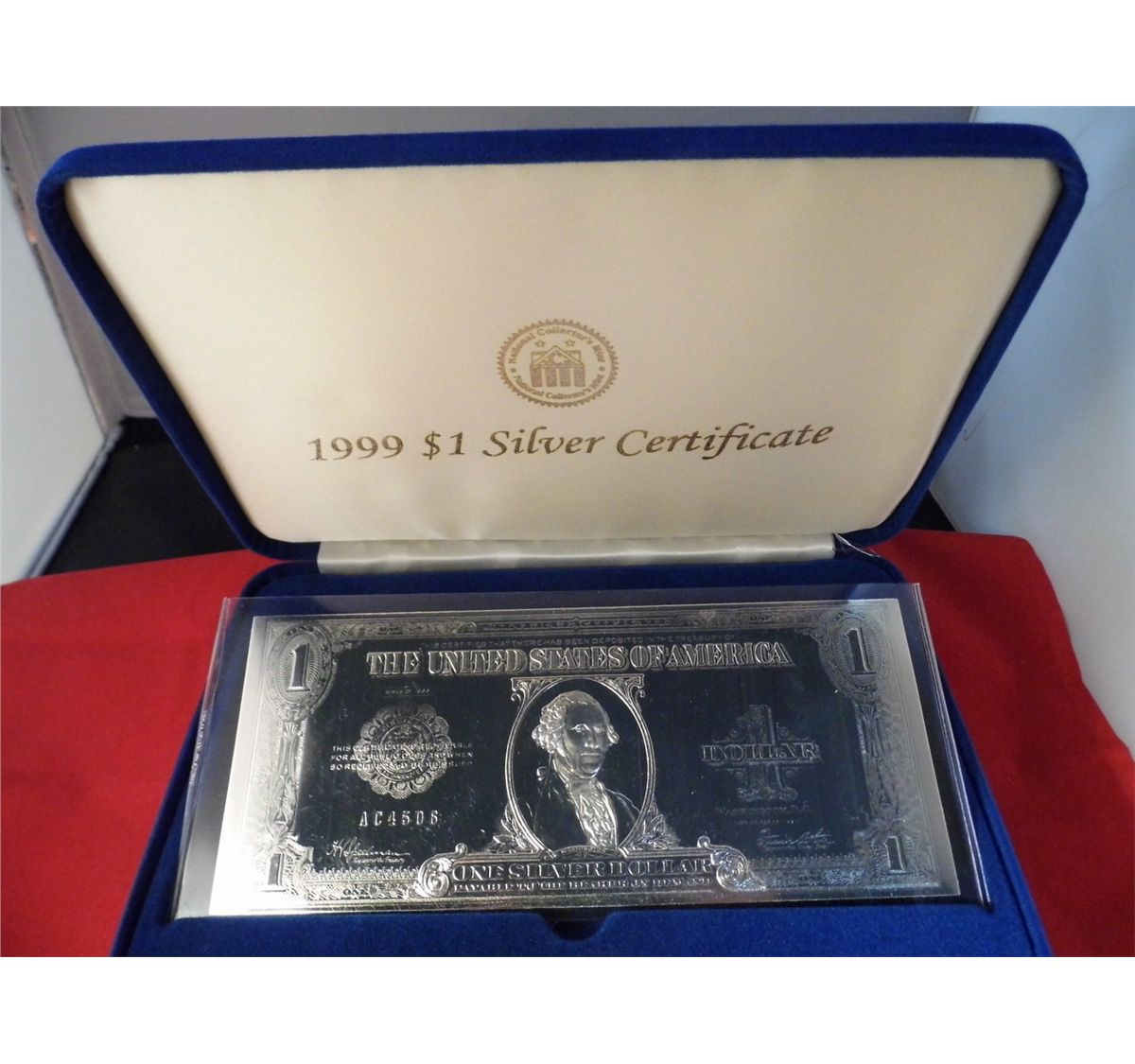 National collectors mint 1999 1 silver certificate note national collectors mint 1999 1 silver certificate note perimeter 21 in content us legal xflitez Gallery
