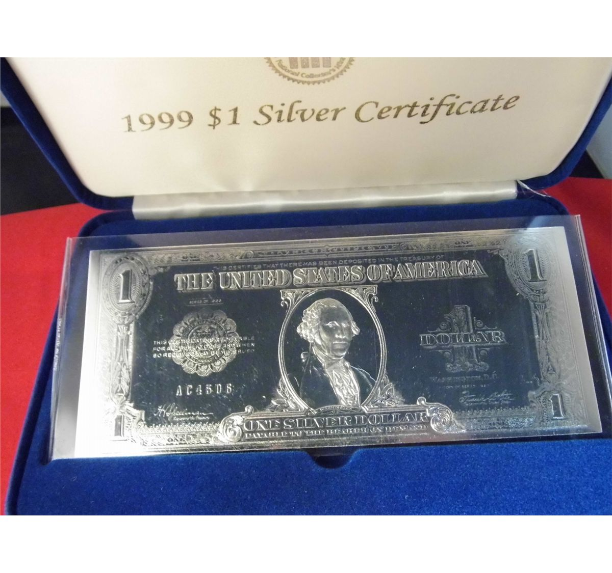 National collectors mint 1999 1 silver certificate note image 2 national collectors mint 1999 1 silver certificate note perimeter 21 xflitez Gallery