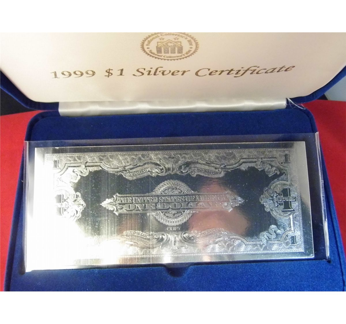 National collectors mint 1999 1 silver certificate note image 3 national collectors mint 1999 1 silver certificate note perimeter 21 xflitez Choice Image