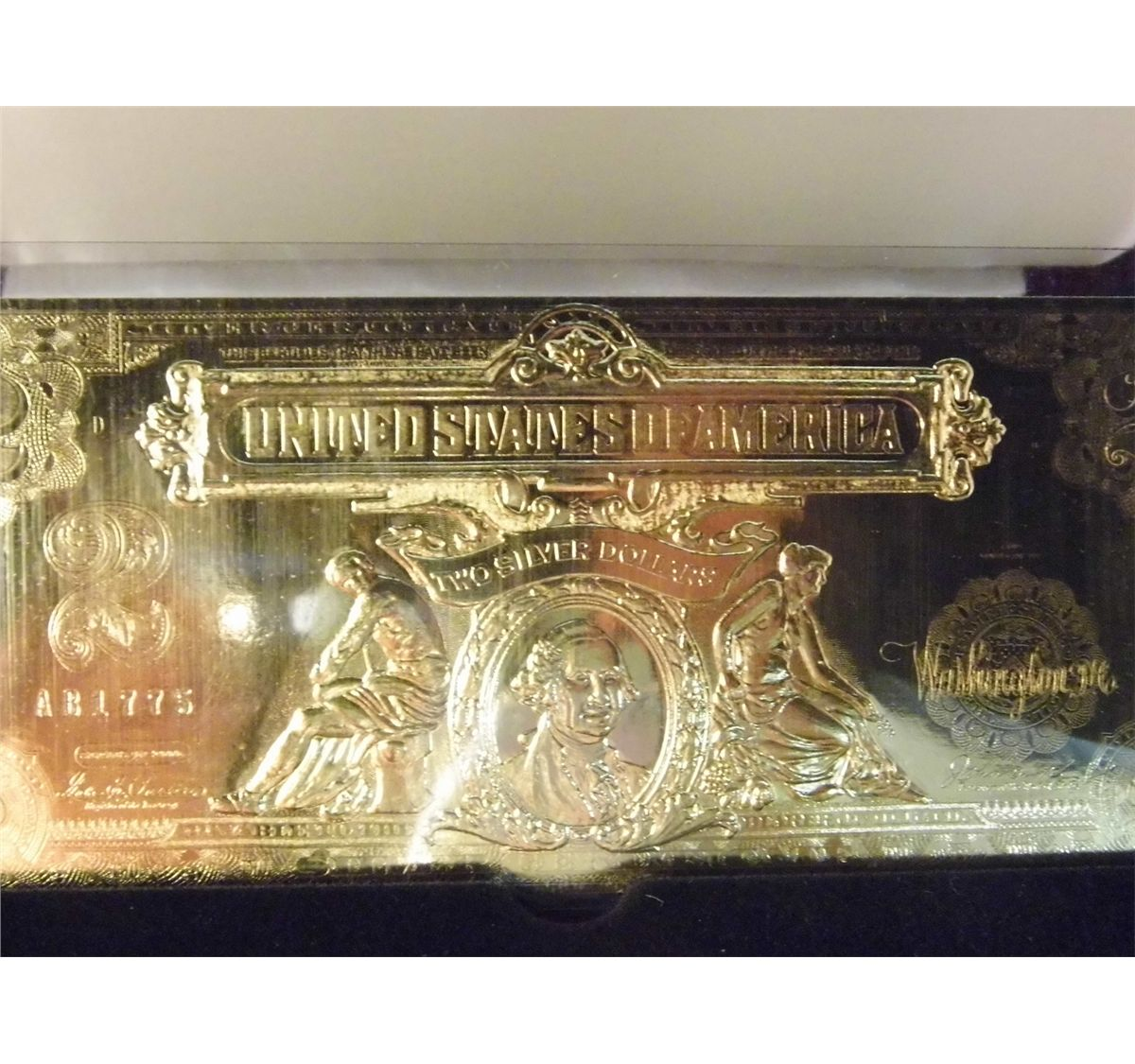 National collectors mint 2000 gold certificate note authentic image 2 national collectors mint 2000 gold certificate note authentic 2 legal tender xflitez Choice Image