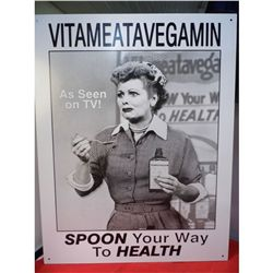 Vitameatavegamin Lucy 12.5 x 16 Repro Metal Sign