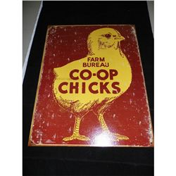Metal Farm Bureau Chick Sign - Repro. 12.5 in. x 16 in.
