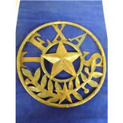 Metal Art with TEXAS Lone Star symbol - 14.25 inches