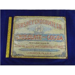 Metal Hershey Chocolate Advertisement Repro Sign - Looks worn - 12.5 in. x 16 in.