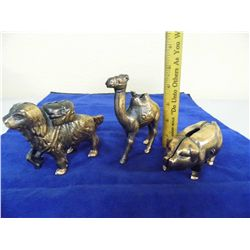 Copper Coin Bank - Camel, Pig and Dog