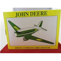 Spec Cast John Deere-Airplane Bank DC-3 Company Plane NIB