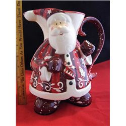 Bella Casa by Ganz Santa Claus Pitcher - 9 in. tall - Matches Lot 173