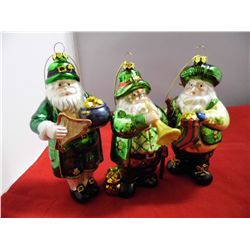3 -Cherish The Season Santa Claus Collectable CHRISTmas Tree Ornaments - 6 in. tall - NIB