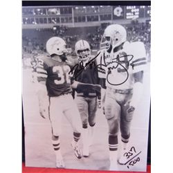 RARE - 8 x 10 Sleeved - O.j. Simpson, signed Harvey Martin and signed Drew Pearson picture - #357 of