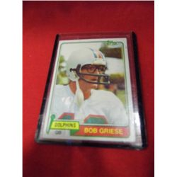 Topps - Bob Griese Dolphins Quarterback Card