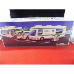 Hess Vehicle w/lights and sound features  Recreation Van w/Dune Buggy and Motorcycle all are NIB (Ex