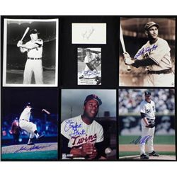 7) AL Central Signed Photos Note Card Sox Twins Tigers