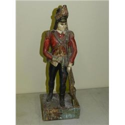 ET0518120003 Wood Carved Soldier Approx. 18in high. Dep