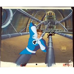 Fantastic 4 Orig Cel Animation Background Signed Stan L