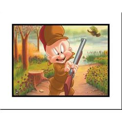 Turkey Huntin' Elmer Original Giclee Art Looney Tunes