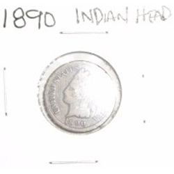 1890 INDIAN HEAD PENNY *NICE PENNY PLEASE LOOK AT PICTURE TO DETERMINE GRADE*!!