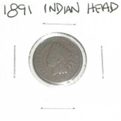 1891 INDIAN HEAD PENNY *NICE PENNY PLEASE LOOK AT PICTURE TO DETERMINE GRADE*!!