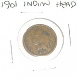 1901 INDIAN HEAD PENNY *NICE COIN - PLEASE LOOK AT PICTURE TO DETERMINE GRADE!!!
