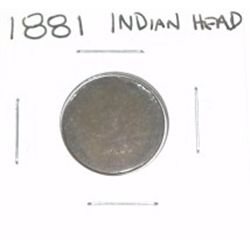1881 INDIAN HEAD PENNY *RARE NICE PENNY PLEASE LOOK AT PICTURE TO DETERMINE GRADE*!!