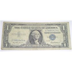 1957 SILVER CERTIFICATE $1 SERIAL # Z78920479A *NICE BILL PLEASE LOOK AT PICTURE TO DETERMINE GRADE*