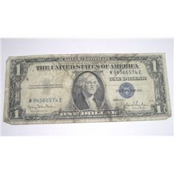 1935 SERIES D SILVER CERTIFICATE $1 SERIAL # W94566574E *NICE PLEASE LOOK AT PIC TO DETERMINE GRADE*