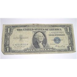 1935 SERIES E SILVER CERTIFICATE $1 SERIAL # L42319302H *PLEASE LOOK AT PIC TO DETERMINE GRADE*!