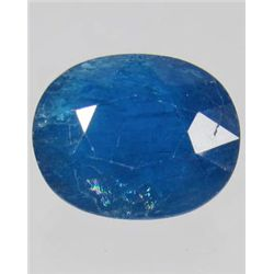 1293 - 7.70 CT - NATURAL OVAL BLUE APATITE GEMSTONE