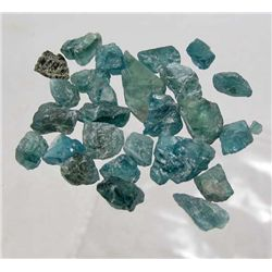 2971 - 25 CT - LOT OF 27 - NATURAL ROUGH GREEN APATITE