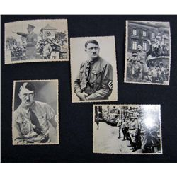 8200 - LOT OF 5 GERMAN NAZI ADOLF HITLER ARCHIVE PHOTOS