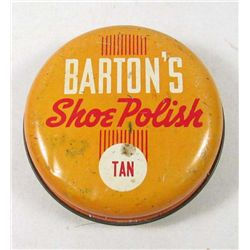 3571 - BARTON'S SHOE POLISH VINTAGE TIN 3 1/8 oz