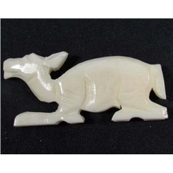 "4541 - HAND CARVED CAMEL BONE FIGURINE - APPROX. 2"" X 1.5"""