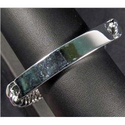 "4874 - STERLING MENS I.D. BRACELET - 10MM - 8"" - 39.21 GRAMS"