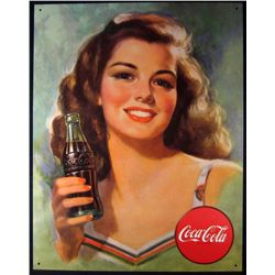 5463 - METAL ADVERTISING SIGN - COCA-COLA - 12.5X16""