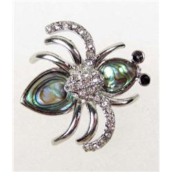 7289 - ABALONE SHELL SPIDER BROOCH