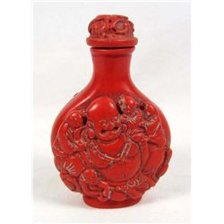 7383 - CARVED LUCKY BUDDHA SNUFF BOTTLE