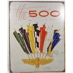 7411 - INDY 500 METAL SIGN - 12..5x16""