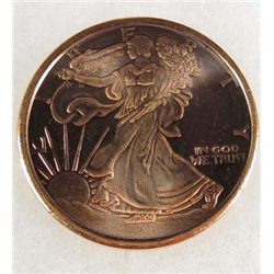 7854 - 1 OZ OF .999 COPPER 2011 USA WALKING LIBERTY COIN