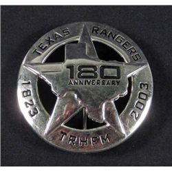 8546 - TEXAS RANGER 1823-2003 180 ANNIVERSARY BADGE