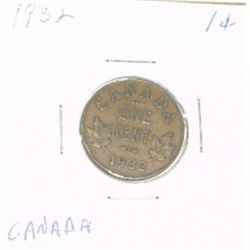 1932 CANADA 1 CENT PENNY *RARE NICE CANADIAN PENNY*!!