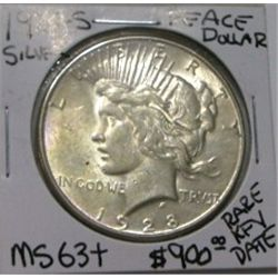 1928 S Peace Silver Dollar Red Book Value Is 900 00