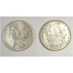 1883 and 1898 Morgan $probably were at least XF but hairlined